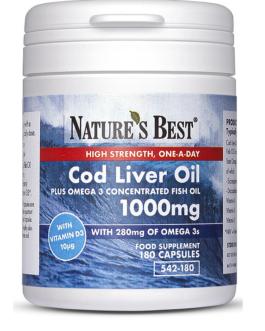 Cod Liver Oil 1000mg, Pure Omega 3's