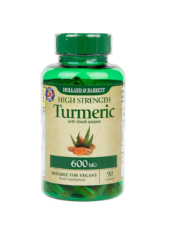 High Strength Turmeric with Black Pepper 90 Capsules 600mg