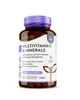 Multivitamins – 26 Essential Ingredients 365 Vegan Tablets