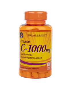 Vitamin C with Wild Rose Hips 100 Caplets 1000mg